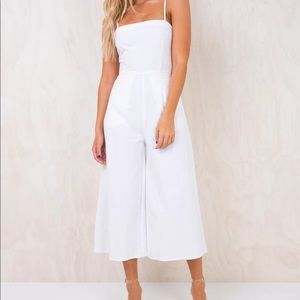 Princess polly cropped white jumpsuit